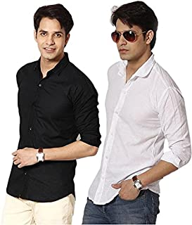 Super weston Cotton Shirts for Men for Regular Wear(Combo of 2)