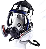 OPARYY Full Seal Protection Rubber Respirator Eye Protection Respiratory Protection Widely Used in Paint Sprayer,A