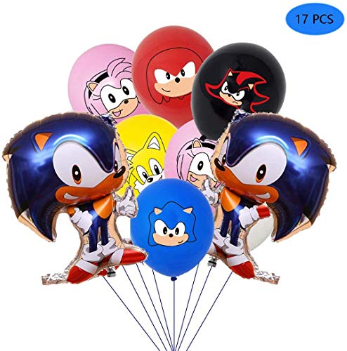 Sonic Hedgehog Latex Balloons Party Supplier Sonic Balloons Party Favors for Kids Birthday Baby Shower Party Decorations