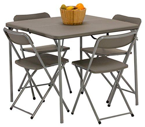 Vango Woodland Tisch Und Stuhl Set, Grey, Std