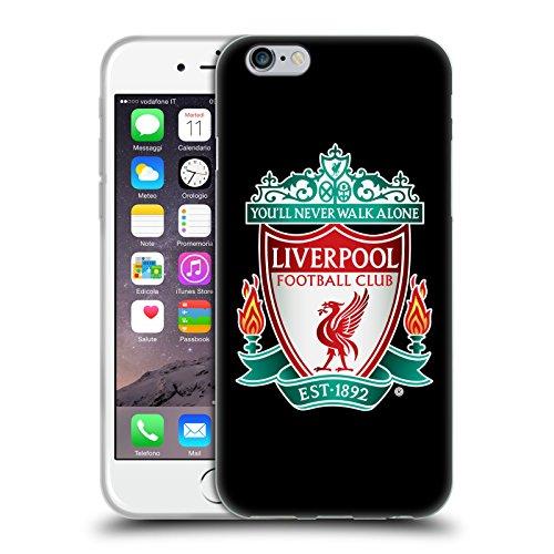 Head Case Designs sous Licence Officielle Liverpool Football Club Noir 1 Crête 1 Coque en Gel Doux Compatible avec Apple iPhone 6 / iPhone 6s