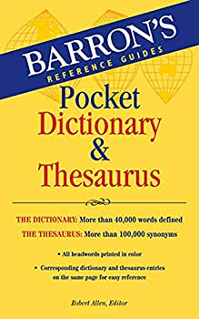 pocket dictionary and thesaurus