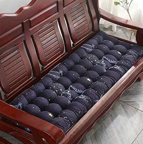 WYDM Cuscino per panca spesso 8 cm, cuscino per panca rettangolare con imbottitura morbida per sedia a dondolo per giardino esterno per 1, 2, 3 posti (55 * 150 * 8 cm, 12)