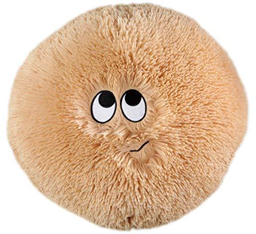 FLAUSCHN Kuschel-Kissen Kinderflauschkissen mit lustigem Gesicht Durchmesser 35 cm super kuschelweich (BEIGE)