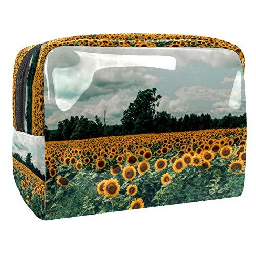 Maquillage Cosmetic Case Multifunction Travel Toiletry Storage Bag Organizer for Women - Sunflower Garden