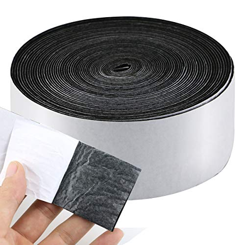 """Twdrer 1 Pack Self Adhesive Felt Tape Polyester Heavy Duty Felt Tape Wood Floor Protector for Furniture and Hard Surfaces,1.96"""" x 0.04"""" x 32.8'"""