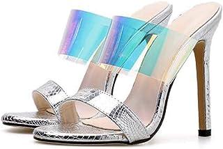 Women's Comfy OpenToe Sandal,Ladies Mules Sandal,Summer Wedding Comfy Wild Dress Sandals StilettoHeel