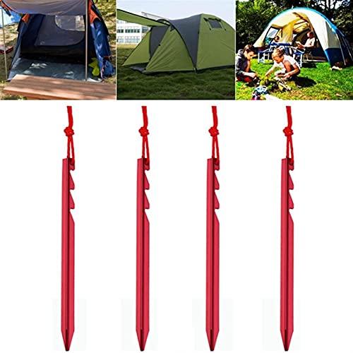 LinXIPU Pila de Tienda Duradera 4 unids/Lote 18 cm Tienda Ajustable Clavija Clavo 7001 Aleación de Aluminio Cuerda Cuerda Equipo de Camping Accesorios de Tienda para Acampar, jardín (Color : Red)