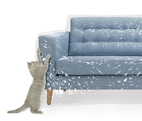 Plastic Couch Cover Pets | Cat Scratching Protector Clawing Deterrent | Heavy...