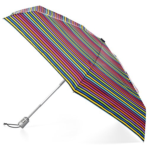 totes Automatic Open Close Water-Resistant Mini Travel Foldable Umbrella with Sun Protection