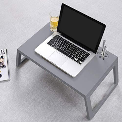 XZQZB Mesa de Ordenador portátil Perezosa con cajón portavasos portalápices pequeña Mesa de Cama para Ordenador portátil Mesa de Ordenador de Escritura Moderna multifunción