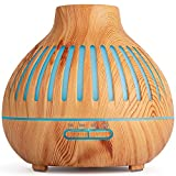 haoxuandianzi Essential Oil Diffuser, Remote Control, Ultrasonic Humidifier, Aromatherapy Diffusers with Waterless Auto-Off, for Bedroom/Office/Yoga Room (Light Yellow 2)