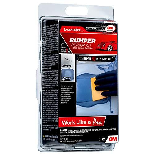 Bondo Bumper Repair Kit, Paintable - Permanent - Non-Shrinking Repair in Less Than Two Hours, 1 Kit