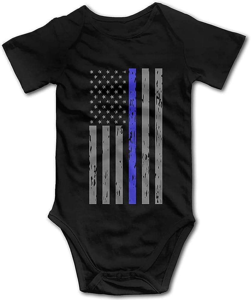Back the Blue American Flag Infant Bodysuit Blue Line Police