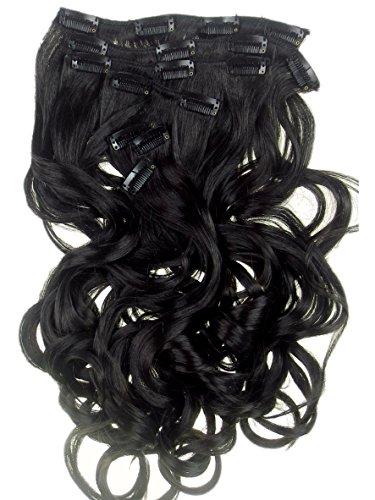 12 VANESSA GREY Toutes les couleurs disponibles, Extension De Cheveux Bouclée Marron Foncé 61 Cms De Longueur Vraiment Naturelle