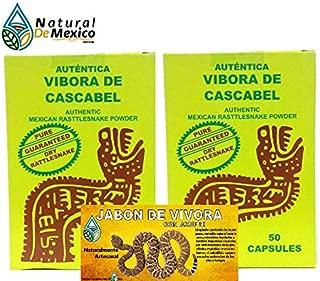Authentic Mexican Rattlesnake Powder 100 Capsules 400 mg ea and Rattlesnake soap, Vibora de Cascabel capsulas y Jabon de Vivora.