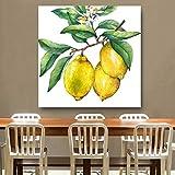 BailongXiao Drucken auf Leinwand Zitronenfrucht Poster und