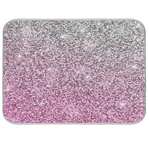 Abtropfmatte für Geschirr, saugfähig, für Küche, extragroß, 45,7 x 61 cm, Pink