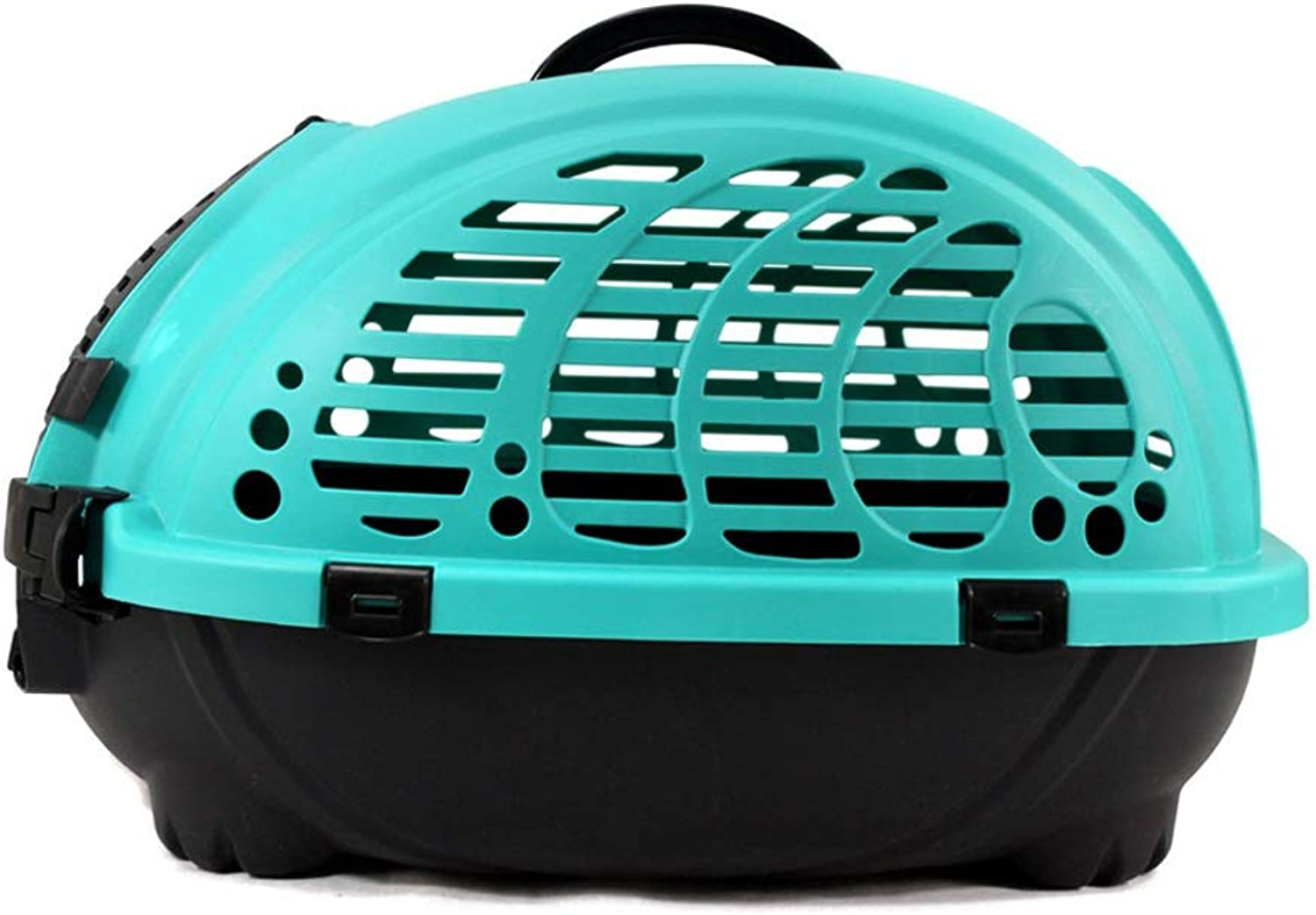 Pet Hard Cover Collapsible Cat Carrier  Pet Travel Kennel with TopLoad & Foldable Feature for for Medium Puppy and Cats,Easy Trips with Dogs and Cats (color   Green)