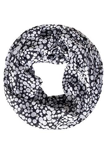 STREET ONE Damen 571179 Mode-Schal, Black, One Size
