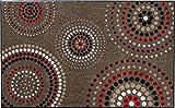 Erwin Müller Fußmatte, Schmutzfangmatte Kreise braun/rot Größe 75x120 cm - rutschfest, pflegeleicht, für Fußbodenheizung geeignet (weitere Farben, Größen)