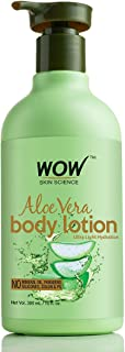 WOW Aloe Vera Body Lotion, Ultra Light Hydration, 300ml