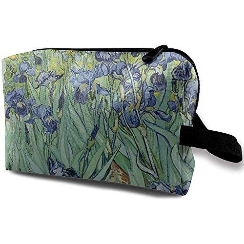 Voyage Cosmetic Bag Portable Sac À Main De Beaux Iris Trousse De Toilette Petit Maquillage Sacs Cas Organisateur