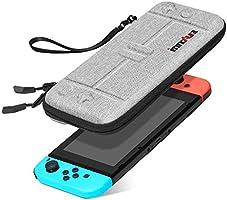 innoAura Tas voor NS Switch draagbare harde schaal Slim Travel draagtas geschikt voor Switch Console & 8 Game steekmodules