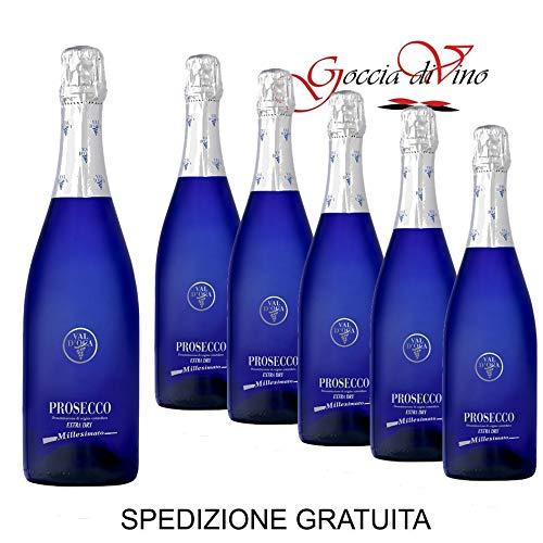 BLU VAL D'OCA - Prosecco DOC Treviso Millesimato - 6 BOTTIGLIE