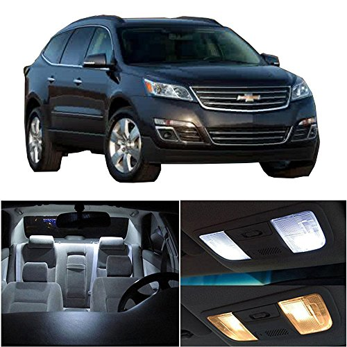 cciyu LED Interior Light Accessories Replacement Package Kit 14 Pack White Replacement fit for 2009-2017 Chevy Traverse