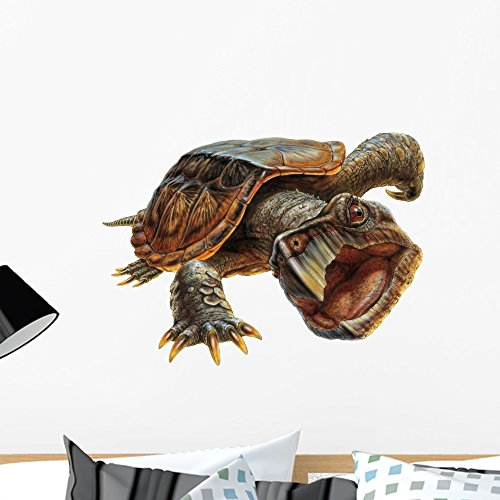 Snapping Turtle Wall Decal by Wallmonkeys Peel and Stick Graphic (24 in W x 18 in H) WM276720
