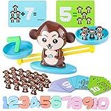 Bilance matematiche Montessori Giocattoli educativi, conteggio delle bilance delle scimmie Blocchi numerici aritmetici Educativi con bilance per bambini dai 5 anni