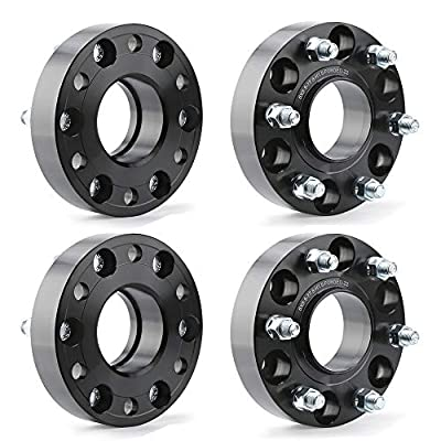"""KSP 6X5.5 Wheel Spacers for 2019+ Ram 1500,1.5""""(38mm) Real Forged Spacers with 77.8mm Hub Bore M14x1.5 Studs fit for Ram 1500"""