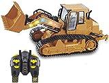 JIAFENG Grandi Bulldozer di Controllo a Distanza di Simulazione, Regalo Bambini escavatori Veicolo Modello RC Vehicle Engineering A,Una