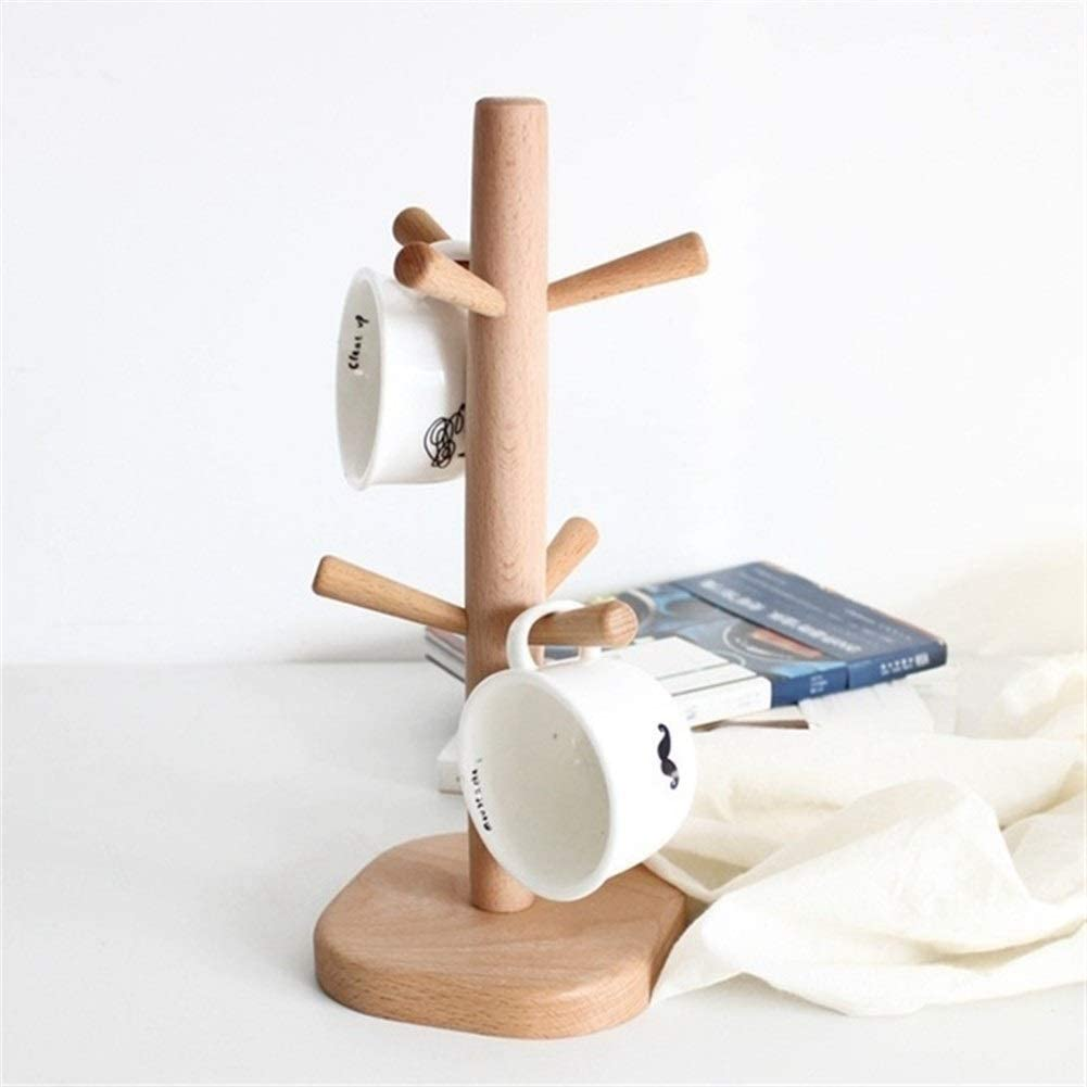 Award Tree-Shaped Wooden Coffee Cup Storage Rack 6 Challenge the lowest price Standing Hooks with