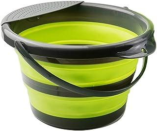 Seau de 5 litres pliable en silicone - Seau pliable de 5 litres - Seau en silicone pour le nettoyage, le camping, la pêch...
