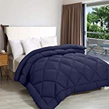 Rajasthan Crafts Soft Microfibre Quilt for Heavy Winter, Single Bed (60inch x 90inch), Navy Blue Colored Razai