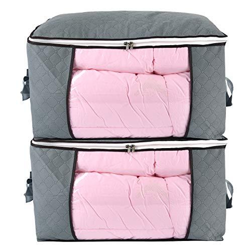 Jumbo Zippered Storage Bag for Closet King Comforter, Pillow, Quilt,...