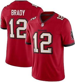 Camiseta De Fútbol De La NFL para Hombre Tampa Bay Buccaneers # 12 Tom Brady Jersey De Fútbol De Manga Corta Camiseta De Deporte Superior NFL Jersey