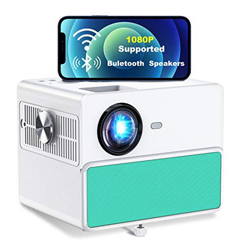 TOWOND 7000Lux Outdoor Projector for Movies, Mini Portable Phone Projector 1080P Supported, WiFi Bluetooth Home Theater Projector, Compatible with TV Stick, HDMI, PS5, USB, Laptop, iPhone Android-Blue
