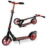VOKUL Patinete plegable Kick Scooters para jóvenes y adultos a partir de 12 años, patinete Big Wheel Scooter de 205 mm, altura ajustable, amortiguador, correa para el cuello, capacidad hasta 220 lbs