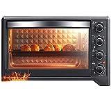 Riyyow Miniofen, Haushaltsmultifunktions-Elektro-Ofen, unabhängige Temperaturregelung, 38L große...