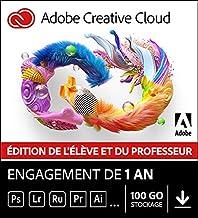Adobe Creative Cloud All Apps   Étudiants/Enseignants   1 an   PC/Mac   Téléchargement