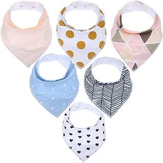 6pcs ajustable baba del bebé baberos baberos de bebé impresión del pañuelo Baba baberos niños Triángulo de toallas para Niños Niñas dentición babeo Babero K60003 Tipo