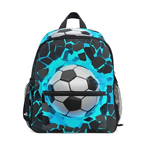 CPYang mochila deportiva para niños con diseño de balón de fútbol