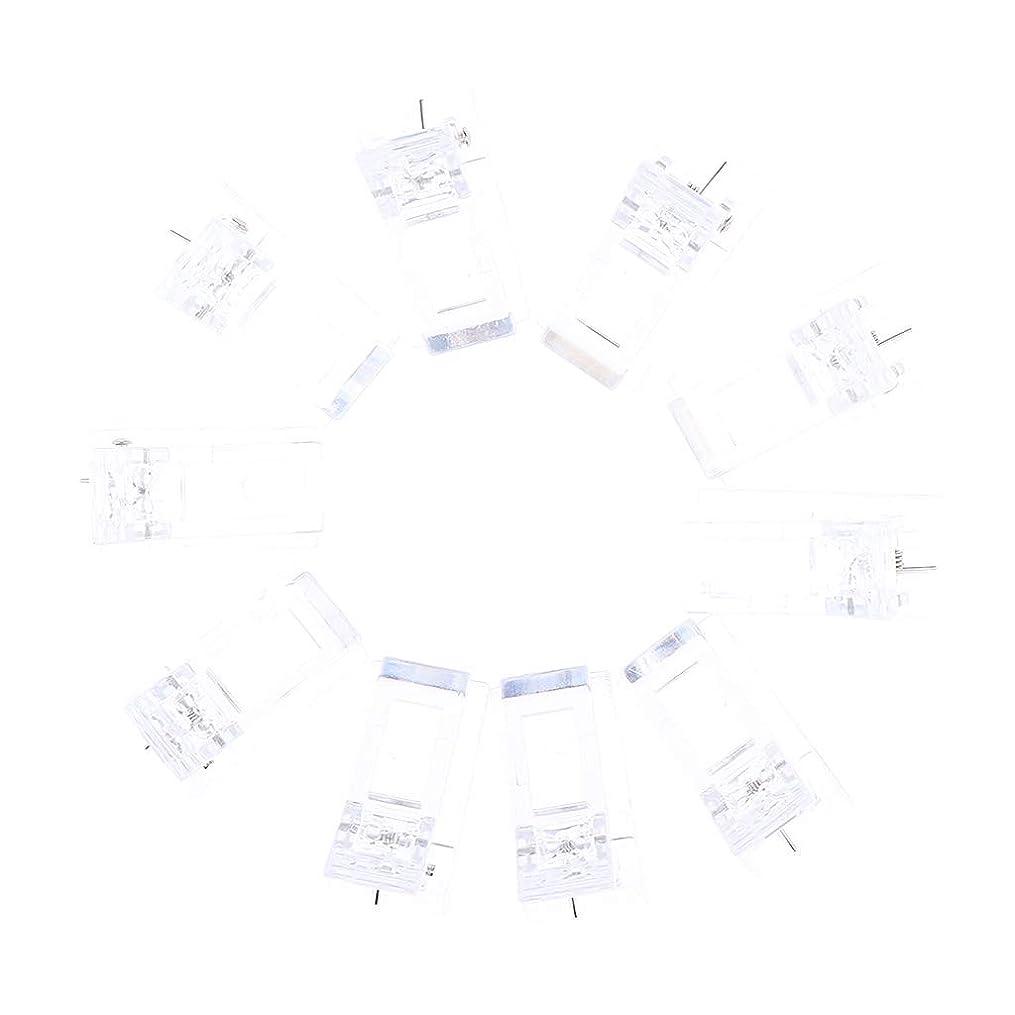 イソギンチャク知り合いジャズDYNWAVE 10個 ネイルチップクリップ ポリゲルクリップ クリップ LED プラスチックネイルツール