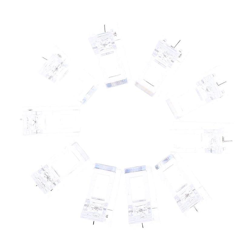 アブストラクトクレーン残酷DYNWAVE 10個 ネイルチップクリップ ポリゲルクリップ クリップ LED プラスチックネイルツール