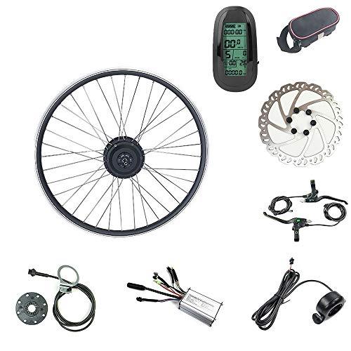 SCHUCK 36V 250W 24 Pollici Kit Ruota motrice conversione Bici elettrica 24 Pollici Bicicletta elettrica con mozzo Cambio brushless Acceleratore Pollice e Display LCD6