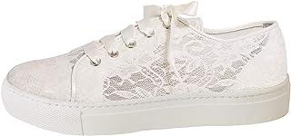 Fiarucci Chaussures de mariée Nelli - Baskets rembourrées - Ivoire/crème - Cuir