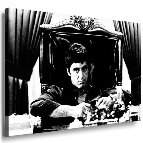 Fotoleinwand24 - Quadro su telaio – Scarface AA0173 / nero/bianco / 60 x 40 cm